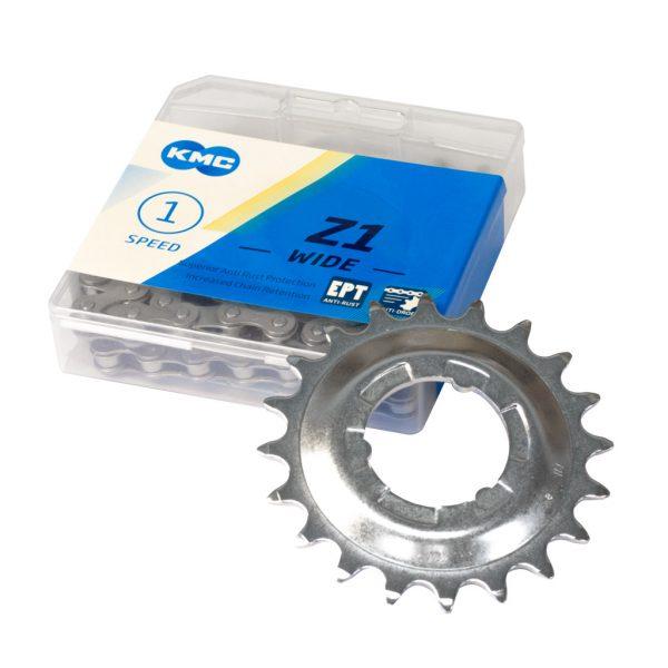 Kit chaîne 20 dents pour vélo sans assistance