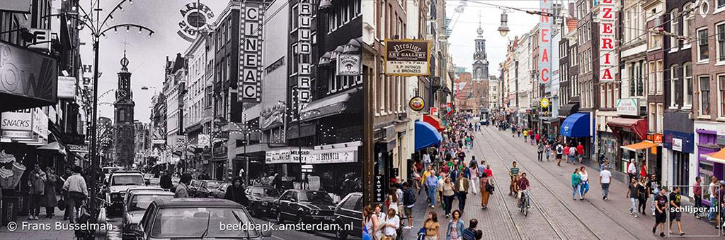 Amsterdam avant et après se transformation des années 1970