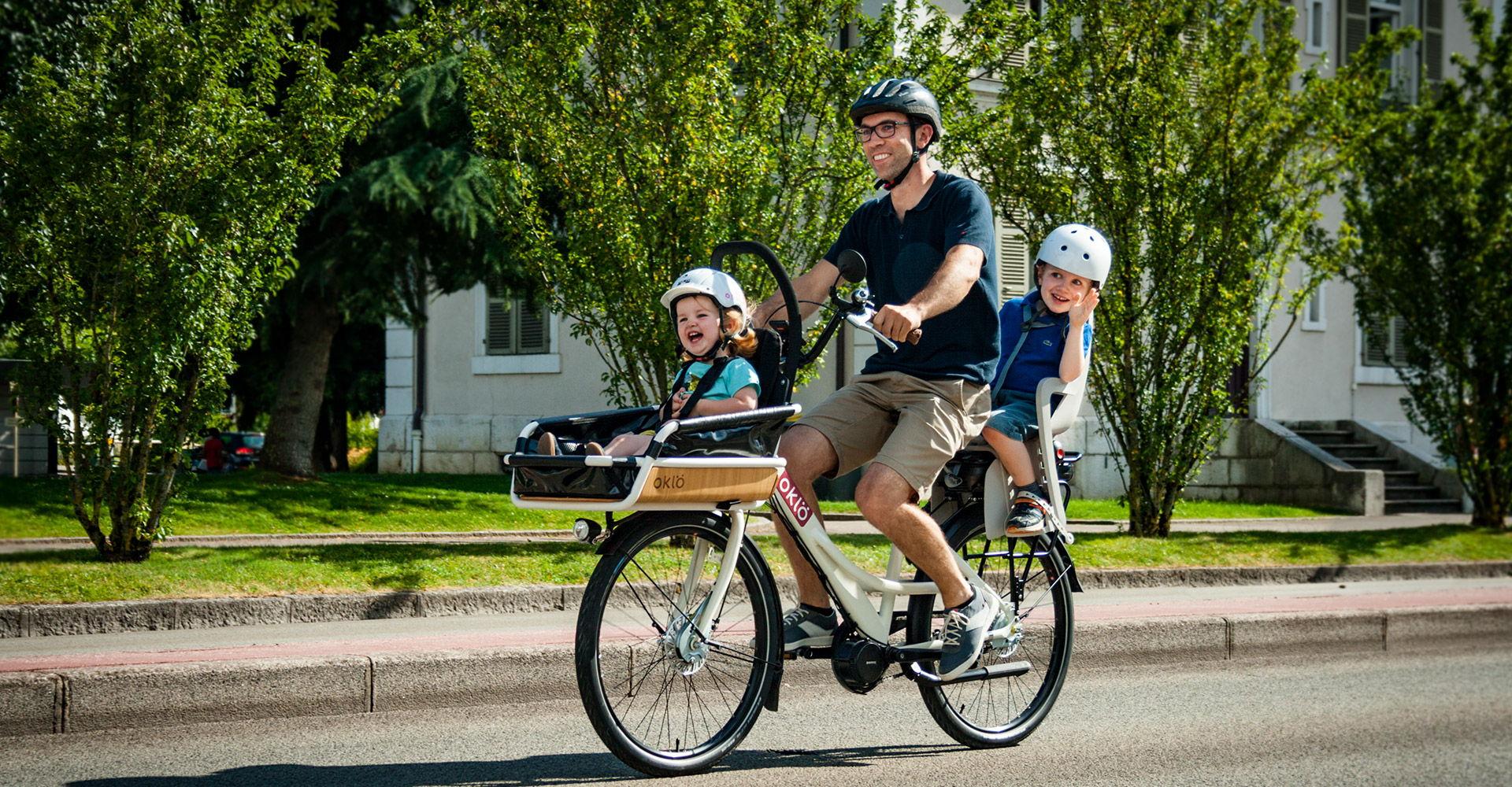 Familéö : vélo familial pour transporter jusqu'à 2 enfants