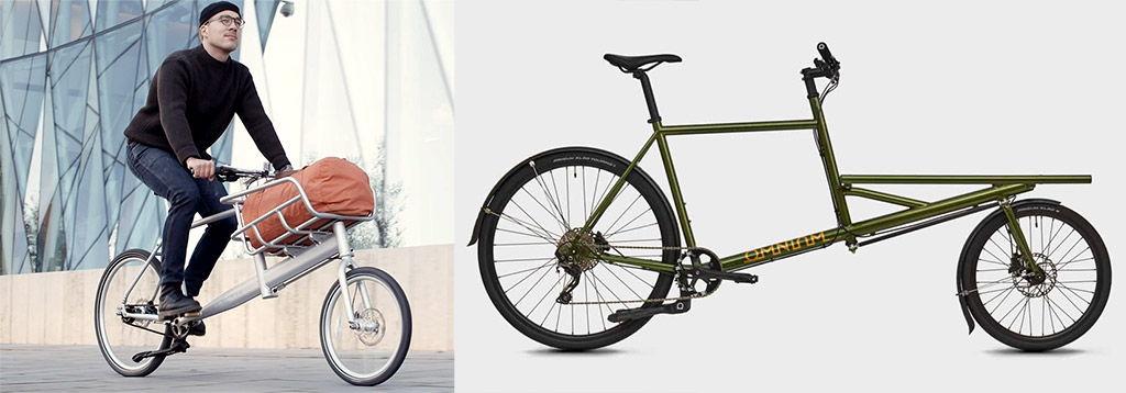 Vélos cargos biporteurs courts Biomega Pek et Omnium