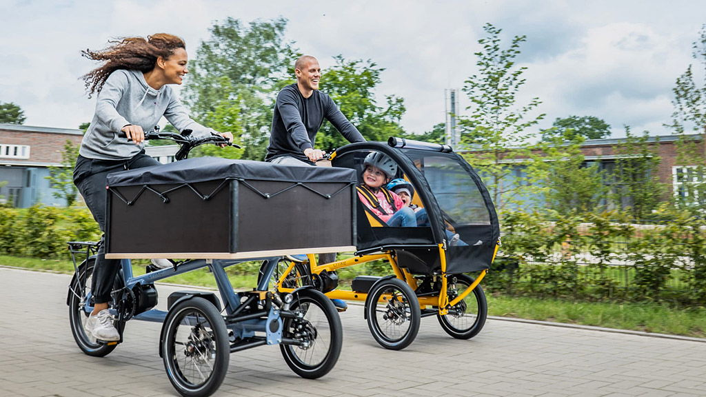 Triporteurs pendulaires Chike pour transport de matériel ou d'enfants